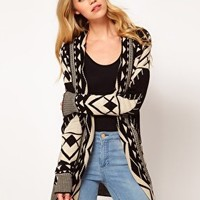 Club L Aztek Cardigan at asos.com