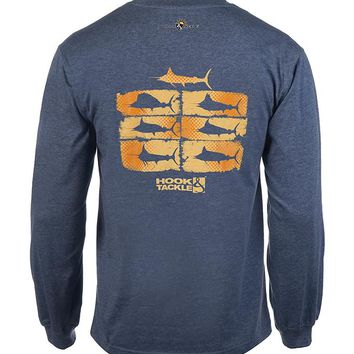 Men's Billfish Collage L/S UV Fishing T-Shirt