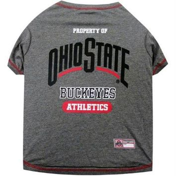 PEAP7N7 Ohio State Buckeyes Pet Tee Shirt