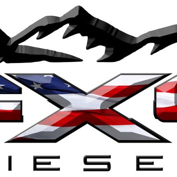 FX4 Diesel Mountains American Flag 3D Vinyl Decal Fits All Makes and Models