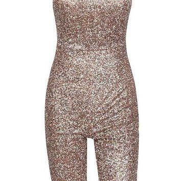Bel Air Romper - Light Pink Glitter