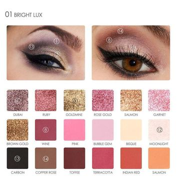 Focallure  18-color Eye Shadow [211419758604]
