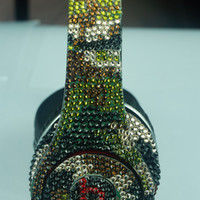 Custom Studio Beats by Dre Headphones Camouflage made with Swarovski Elements