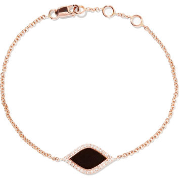 Black Mamba rose gold-tone, crystal and enamel bracelet | Carbon & Hyde | US | THE OUTNET