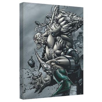 Superman - Doomsday Destruction Canvas Wall Art With Back Board