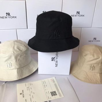 """New York"" Unisex Casual Simple Letter Embroidery Fisherman Cap Couple All-match Bucket Hat Sun Hat"