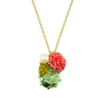 LULU nereides LES accessories ? green gem necklace