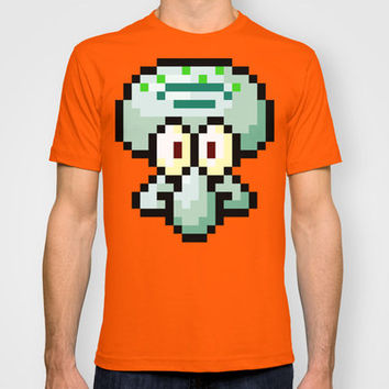 squidward T-shirt by DokiGraphical