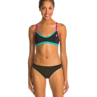 TYR Solid Brites Crosscutfit Bikini Top at SwimOutlet.com