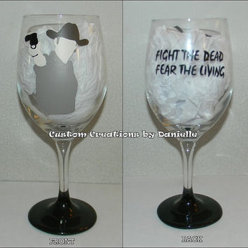 Rick Grimes inspired wine glass