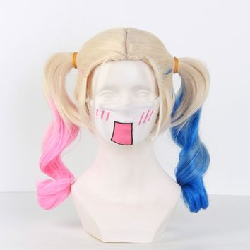 Batman Joker Suicide Squad Harley Quinn Wig  Cosplay Costumes