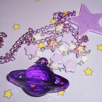 Milky Way Starry Planet Necklace