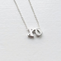 Sterling Silver Xo Necklace, Xo Necklace, Xo Silver, Sterling Xo Necklace, Xo Necklace Silver, Xo Silver Necklace, Silver Xo Necklace