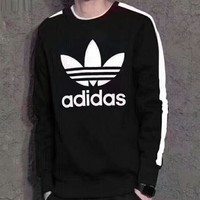 Adidas Clover Men's Hoodie Men's knit breathable sports sweater F-ZDL-STPFYF
