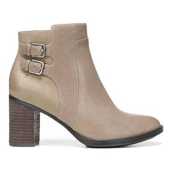 Women's Naturalizer Falza Ankle Boot Taupe Leather/Nubuck | Overstock.com Shopping - The Best Deals on Boots