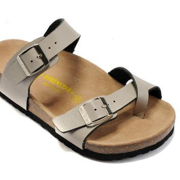 Birkenstock Mayari Sandals Leather Light Grey - Ready Stock