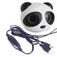 Wireless Mini portable panda Mini Speaker for Laptop