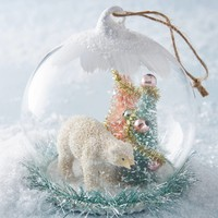 Polar Snow Globe Ornament