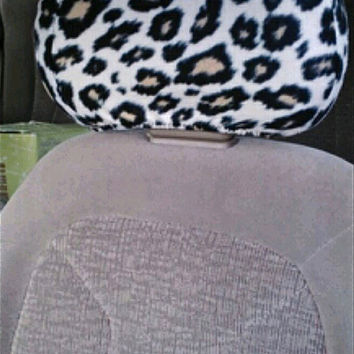 Headrest Covers CHEETAH PRINT for Any Car or Truck