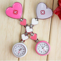 Free shipping Clip Nurse Doctor Pendant Pocket Quartz Red Cross Brooch Nurses Watch Fob Hanging Medical