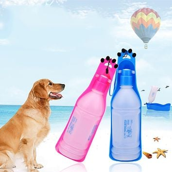 350/600ml Portable Outdoor Feeding Bowl Dog Puppy Cat Travel Pet Water Bottle