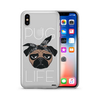 Pug Life - Clear Case Cover