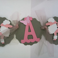 Its a girl: pink and grey party banner