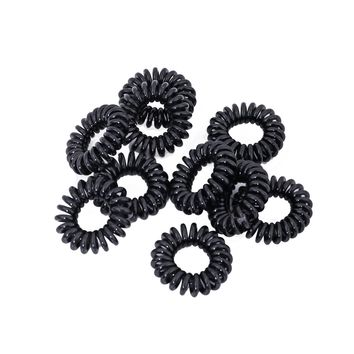 Black Mini Spiral Hair Ties