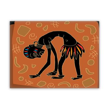 African Fine Wall Art - Worshipping Warrior