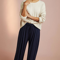 Pleated Terry Wide-Leg Pants