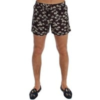 Dolce & Gabbana Purple Hedgehog SILK Pajama Shorts