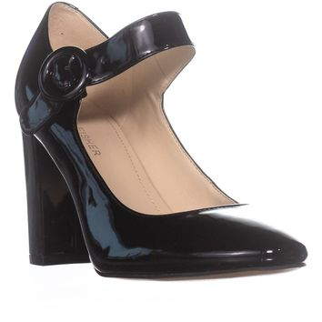 Marc Fisher Shaylie Mary Jane Heels, Black Synthetic, 7.5 US