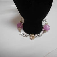 Once Upon A Time abc fairytale disney tangled Rapunzel silver wire wrapped celtic knot and beaded bracelet