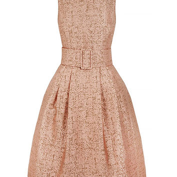 1950s Dress| Rose Gold Cocktail Dress| Designer Dress| Event Dress| Suzannah.com