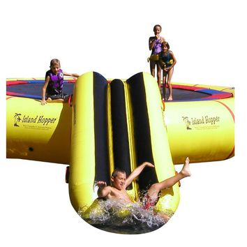 Island Hopper Bounce N Slide Water Attachment for Water Trampoline & Bouncer -- PVCSLIDE