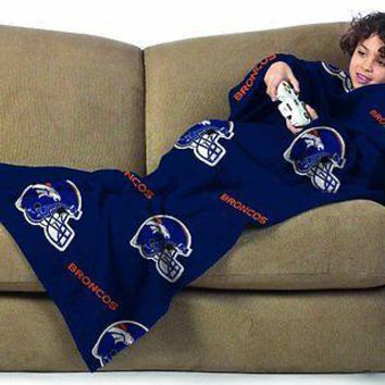 Denver Broncos NFL Blanket/SLEEVES Comfy Throw YOUTH