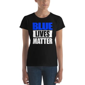 Blue Lives Matter Premium Women's T-Shirt