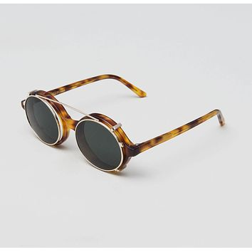 Han Kjobenhavn - Doc Clip On 47mm Raven Sunglasses / Black Lenses