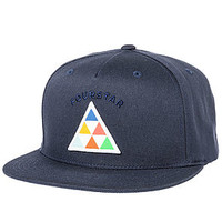 The Triangle Snapback Hat in Navy