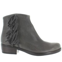 Eric Michael Jackie - Grey Leather Side Fringe bootie