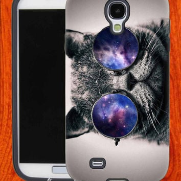 Galaxy Sunglasses Cat,Accessories,Case,Cell Phone,iPhone 4/4S,iPhone 5/5S/5C,Samsung Galaxy S3,Samsung Galaxy S4,Rubber,29-11-18-Bn