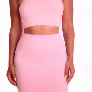 Light Pink Tube Two Piece