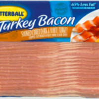 Butterball Fully Cooked Turkey Bacon 3-12 oz pk