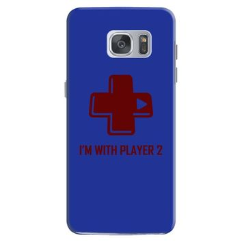 i'm with player 2 video game gamer computer geek nerd funny tee shirt Samsung Galaxy S7