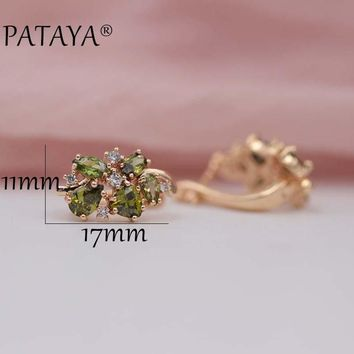 Multi-Colored Natural Zirconia Earrings Hot Exclusive Design Jewelry for Women