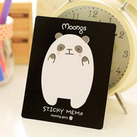 Sticky Notes Memo Pad Labels | Bookmark Stationary Paper | School Office Supplies | Removable Adhesive Panda Cute Korean Post-It M24