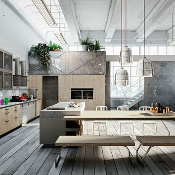 Linear kitchen with island CODE EVOLUTION by Snaidero | design Michele Marcon