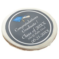 Blue with White Graduation Sugar Cookies Sugar Cookie