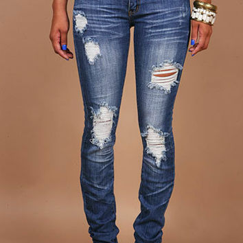 Jaded Torn Skinnys | Skinny Jean at Pink Ice