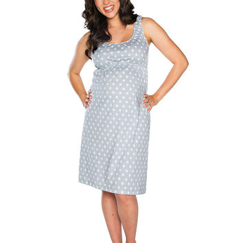 Lisa Maternity & Nursing Sleeveless Nightgown